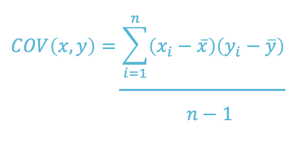 Mathematical formula for covariance