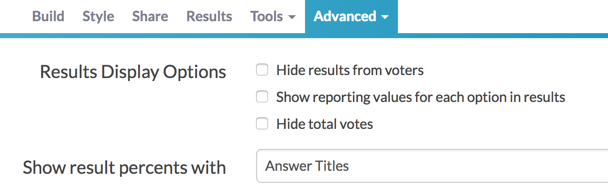 How to adjust poll settings in Alchemer.
