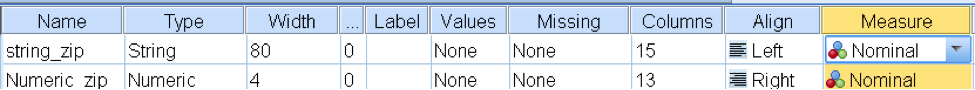 spss variables example 2